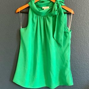 Bliss USA Emerald Green Tie Halter Blouse NWT M